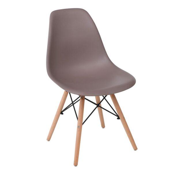 ART Wood Καρέκλα Ξύλο / PP Sand Beige