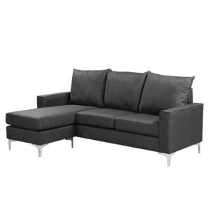 AVANT Καναπές Σαλονιού - Καθιστικού Γωνία Αναστρέψιμος / Ύφασμα Σκούρο Γκρι