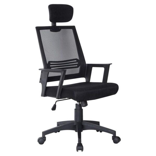 BF2008 Πολυθρόνα Γραφείου Διευθυντή / Mesh Μαύρο