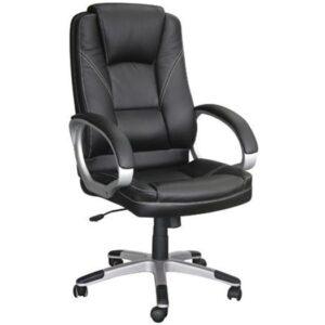 BF6950 Πολυθρόνα Γραφείου Διευθυντή / Pu Μαύρο