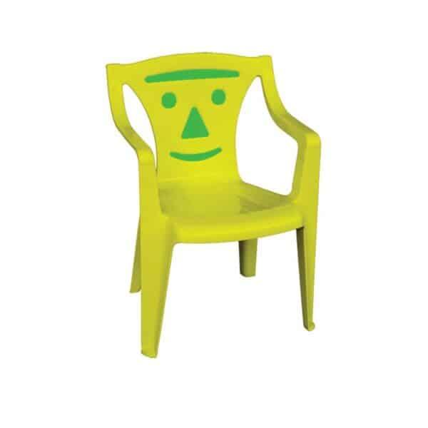 BIMBO Πολυθρονάκι Παιδικό Πλαστικό Κίτρινο / Green smile