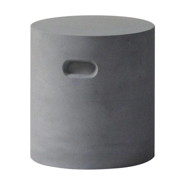 CONCRETE Cylinder σκαμπώ Cement Grey