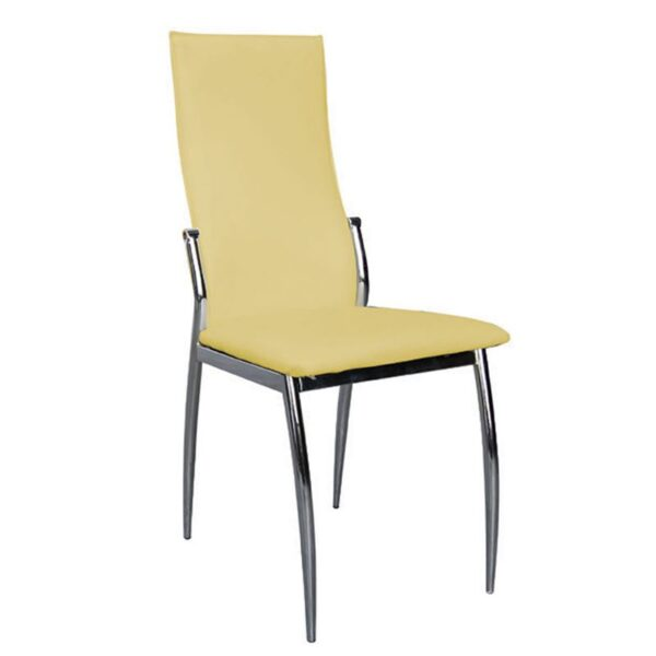 FRESH Καρέκλα Χρώμιο / PVC Κίτρινο