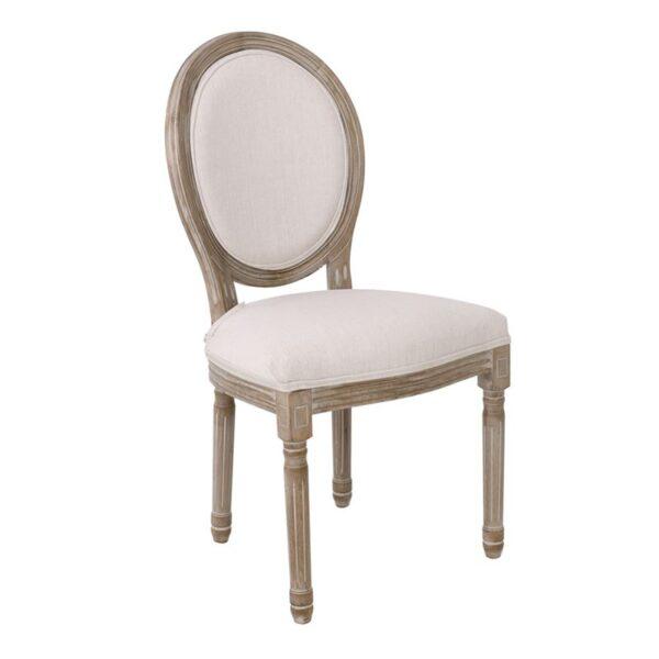 JAMESON Καρέκλα Τραπεζαρίας Σαλονιού / Decape - Ύφασμα Εκρού