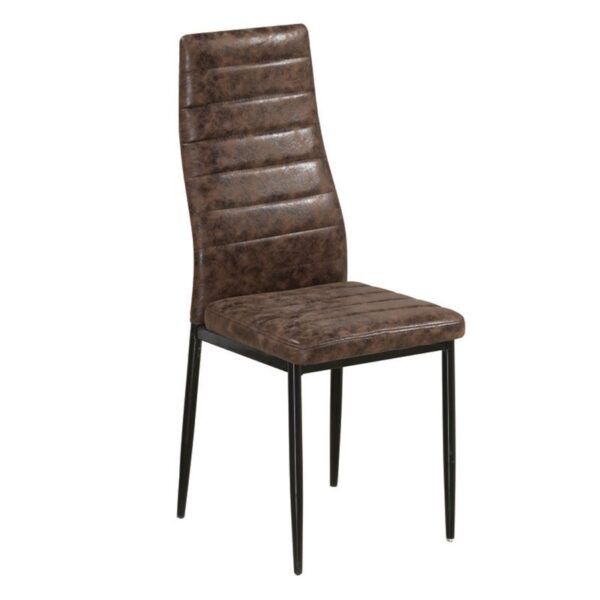 JETTA καρέκλα Βαφή Μαύρη/Ύφασμα Suede Καφέ