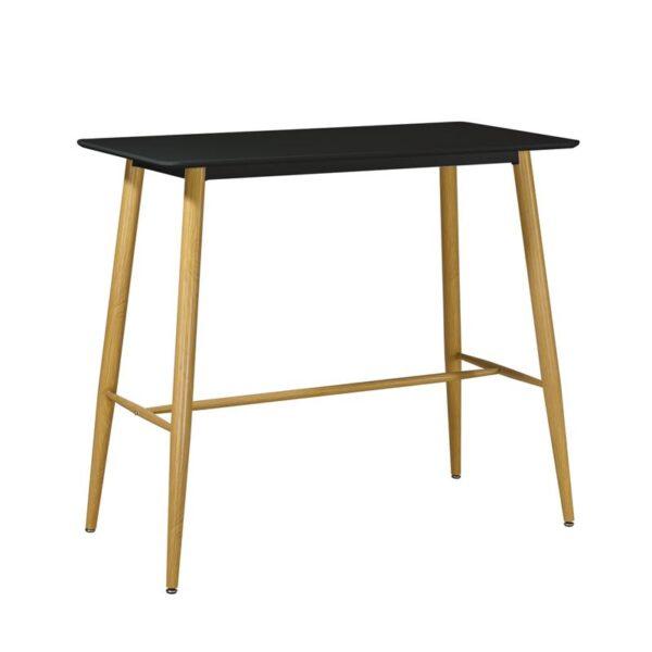 LAVIDA Τραπέζι BAR Μέταλλο Βαφή Φυσικό / Μαύρο MDF