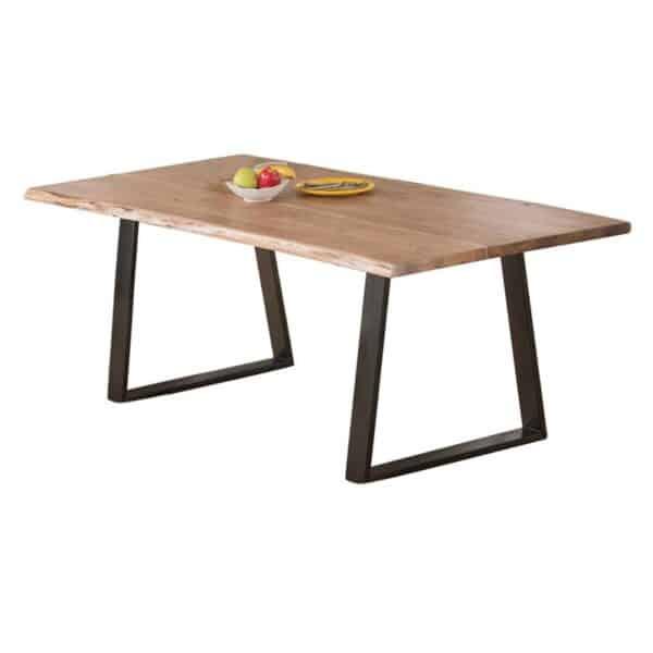 LIZARD Τραπέζι Κουζίνας - Τραπεζαρίας / Μέταλλο Μαύρο - Ξύλο Ακακία Φυσικό