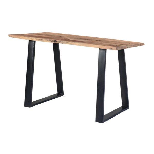 LIZARD Τραπέζι Βar Μεταλλο Βαφή Μαύρο / Ξύλο Ακακία Φυσικό