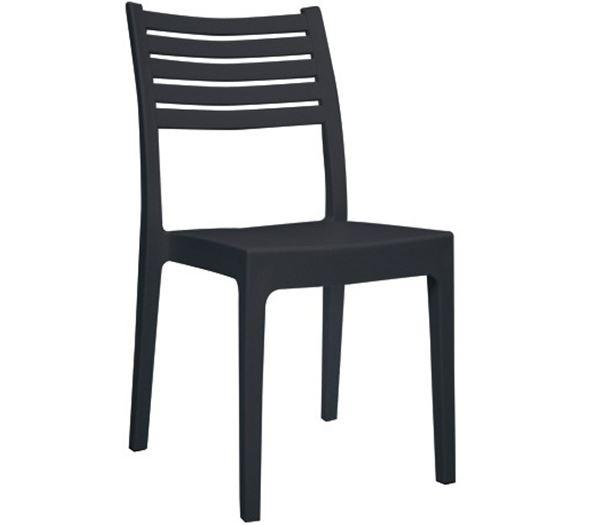 OLIMPIA Καρέκλα Στοιβαζόμενη Πλαστική Ανθρακί