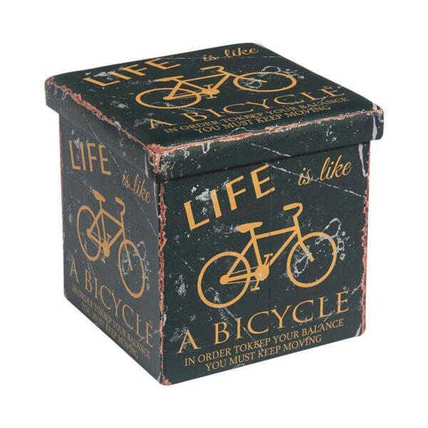 ORION Σκαμπώ Αποθηκευτικό - Βοηθητικό / PU Deco Bike