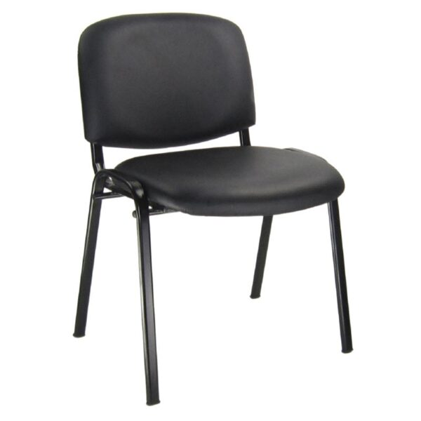 SIGMA καρέκλα επισκέπτη Μέταλλο Μαύρο / PVC Μαύρο