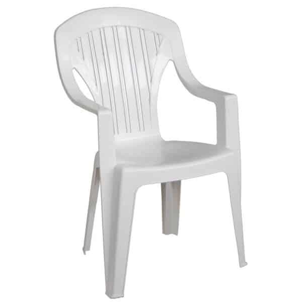 TROPEA Πολυθρόνα Στοιβαζόμενη Πλαστική Άσπρη