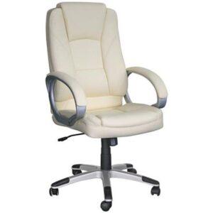 BF6950 Πολυθρόνα Γραφείου Διευθυντή / Pu Άσπρο