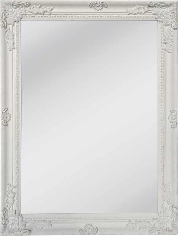 Καθρέφτης Τοίχου Ξύλινος Λευκό Αντικέ Romantic