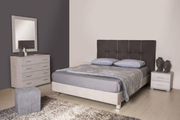 Κρεβάτι διπλό με κεφαλάρι