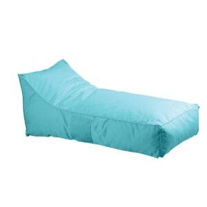 TACO Πουφ Ξαπλώστρα - Ανάκλιντρο 100% Αδιάβροχο Ύφασμα Γαλάζιο
