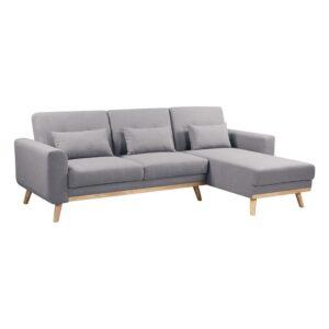 BACKER Καναπές / Κρεβάτι Σαλονιού - Καθιστικού Γωνία Αναστρέψιμη / Ύφασμα Γκρι