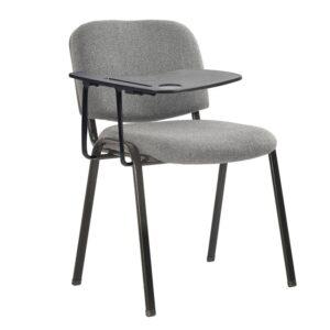 SIGMA Καρέκλα - Θρανίο Μέταλλο Μαύρο / Ύφασμα Γκρι