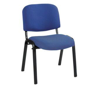 SIGMA Καρέκλα Στοιβαζόμενη Γραφείου - Επισκέπτη Μέταλλο Μαύρο / Ύφασμα Μπλε