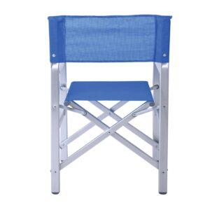 Σκηνοθέτη Πολυθρόνα Αλουμινίου 1,2mm - Textilene Μπλε (2,75kg)
