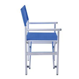 Σκηνοθέτη Πολυθρόνα Αλουμινίου 1,8mm - Textilene Μπλε (4,60kg)