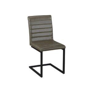 ALTO Καρέκλα Μέταλλο Βαφή Μαύρο - Ύφασμα Vintage Green