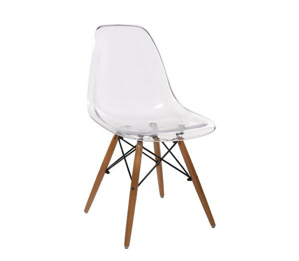 ART Wood Καρέκλα Τραπεζαρίας Κουζίνας Ξύλο - PC Clear