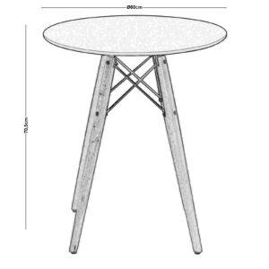ART Wood Tραπέζι Άσπρο MDF