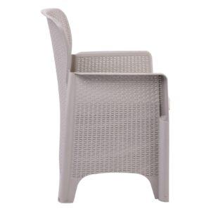 BOSTONIAN PP-UV Πολυθρόνα K/D Sand Grey - Μαξιλάρι Μπεζ