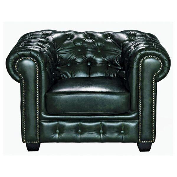 CHESTERFIELD 689 Πολυθρόνα Σαλονιού - Καθιστικού / Δέρμα Antique Green