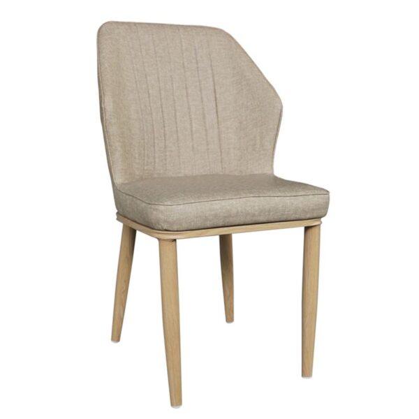 DELUX Καρέκλα Μέταλλο Βαφή Φυσικό