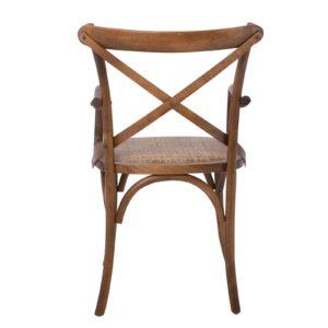 DESTINY Πολυθρόνα Οξυά Καρυδί - Κάθισμα Ψάθα