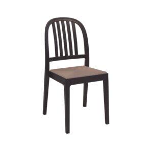 ERA Καρέκλα Στοιβαζόμενη ΡΡ Καφέ