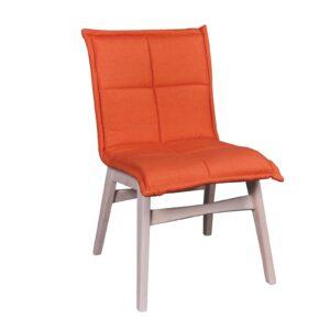 FOREX Καρέκλα White Wash - Ύφασμα Πορτοκαλί