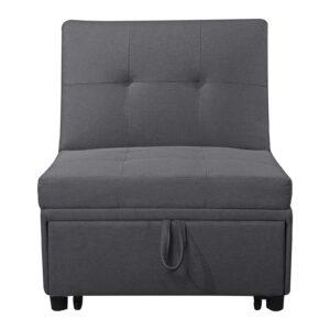 IMOLA Καρέκλα - Κρεβάτι Σαλονιού - Καθιστικού Ύφασμα Σκούρο Γκρι