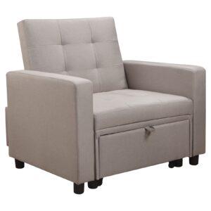 IMOLA Πολυθρόνα - Κρεβάτι Σαλονιού - Καθιστικού Ύφασμα Cappuccino