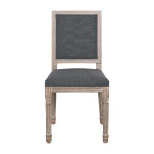 JAMESON Square Καρέκλα Τραπεζαρίας - Σαλονιού Decape Ύφασμα Γκρι