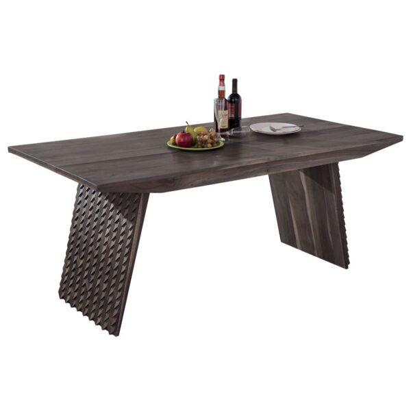 LATIF Τραπέζι Τραπεζαρίας Κουζίνας - Ξύλο Ακακία Smoke Grey