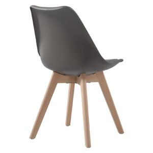 MARTIN Καρέκλα Τραπεζαρίας Metal Cross Ξύλο, PP Sand Beige, Αμοντάριστη Ταπετσαρία