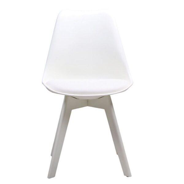 MARTIN-II Καρέκλα PP Άσπρο - Μονταρισμένη Ταπετσαρία
