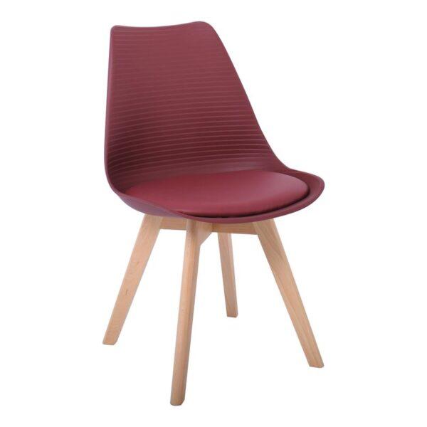 MARTIN STRIPE Καρέκλα Ξύλινο Πόδι