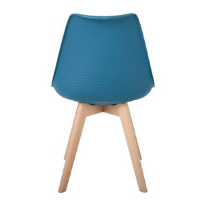 MARTIN STRIPE Καρέκλα Ξύλινο Πόδι - PP Petrol