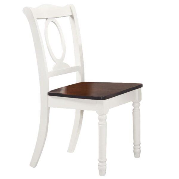 NAPOLEON Καρέκλα Tραπεζαρίας Ξύλο Άσπρο - Καρυδί