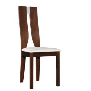 NOEL Καρέκλα Οξυά Καρυδί Burn Beech Ύφασμα Μπεζ