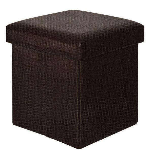 ORION Σκαμπώ Αποθηκευτικό Βοηθητικό - PU Σκούρο Καφέ