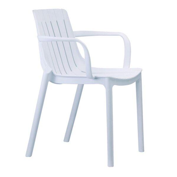 PALMER Πολυθρόνα Πολυπροπυλένιο Άσπρο