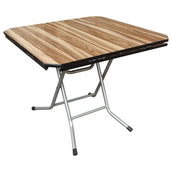 TOPAL Τραπέζι Πτυσσόμενο Μέταλλο Βαφή Γκρι - Επιφάνεια Wood Deco