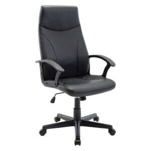 BF1250 Πολυθρόνα Γραφείου Διευθυντή - Pu Μαύρο