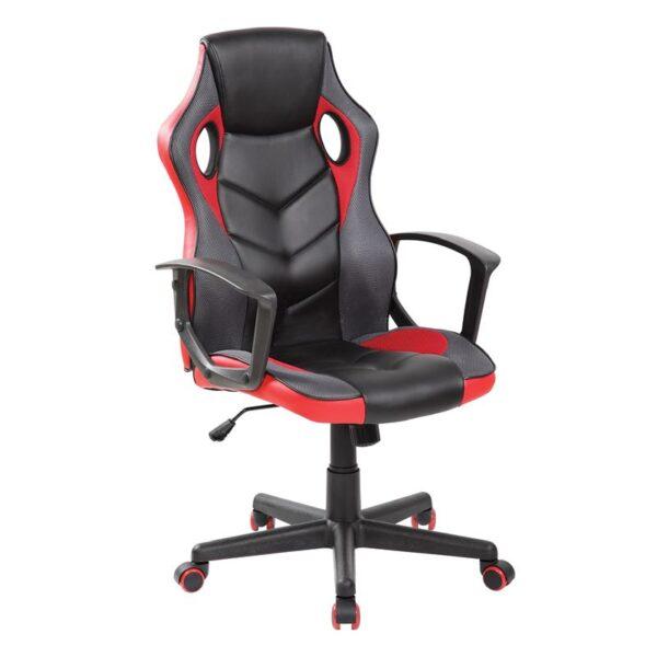 BF7700 Gaming Πολυθρόνα Mesh - Pu Μαύρο - Κόκκινο